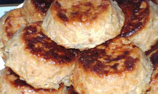 Cabbage cutlets, baked