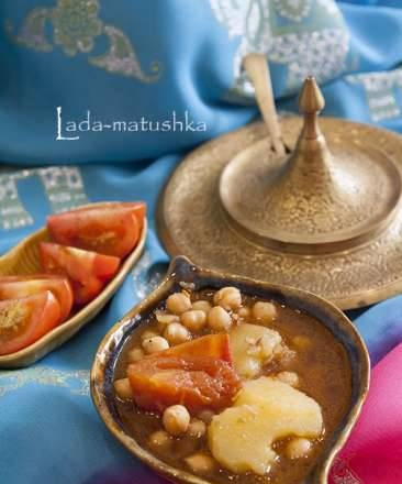"""Chickpea with spices in Indian style (lean) """"Aloo Chole"""" (for Zigmund & Shtain MC-DS42IH)"""
