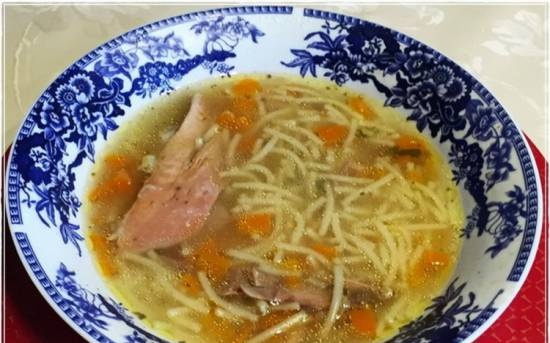 Homemade rooster soup