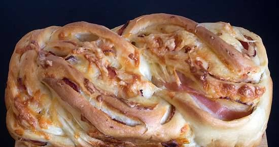 Braid with cheese and bacon