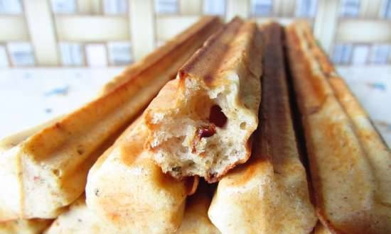 Churros snack bars with fried onions and dried tomatoes (Churrosmaker Princess 132401)