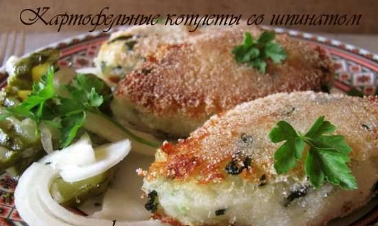 Potato cutlets with spinach (lean)