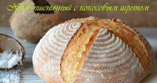 Wheat bread with coconut meal