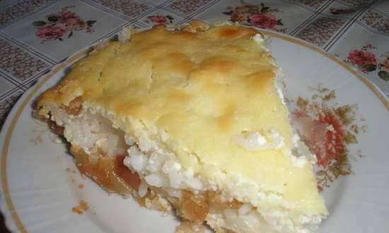 Rice-curd casserole with apples