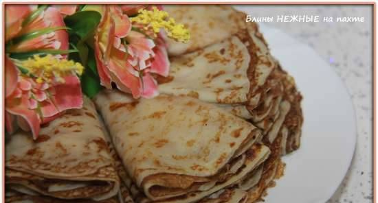 """Pancakes """"Delicate"""" with buttermilk"""