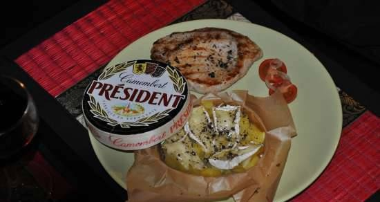 Potatoes with Camembert cheese