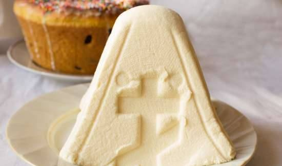 Easter cottage cheese with condensed milk (no eggs)