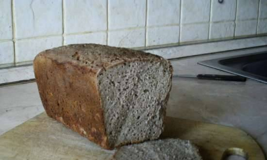 Rye bread (basic) with a convenient schedule