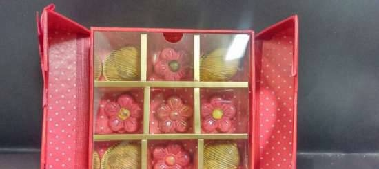 Colored chocolates at home