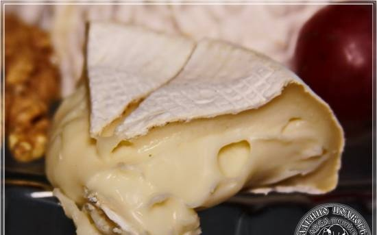 Camembert cheese made from goat milk