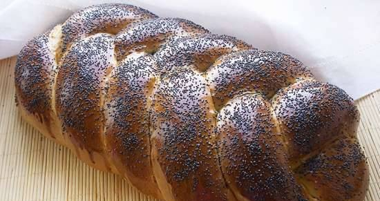 Butter twisted bread with pumpkin