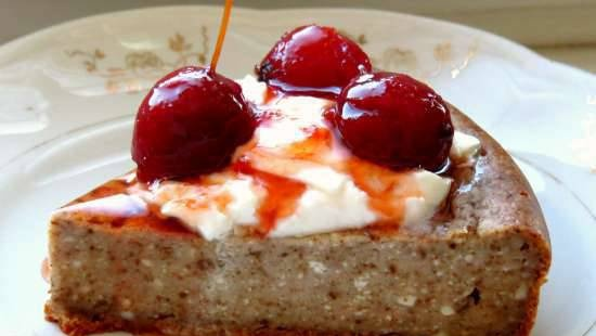Cottage cheese casserole with fiber from Ivan-tea