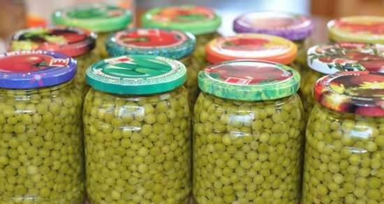 Green peas, canned in an autoclave or any pressure cooker