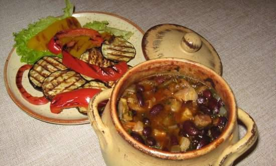 Beans, cooked in a pot (electric oven)