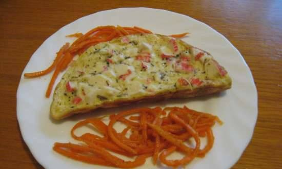 Omelet with crab sticks and mustard (Travola SW232 omelet maker)