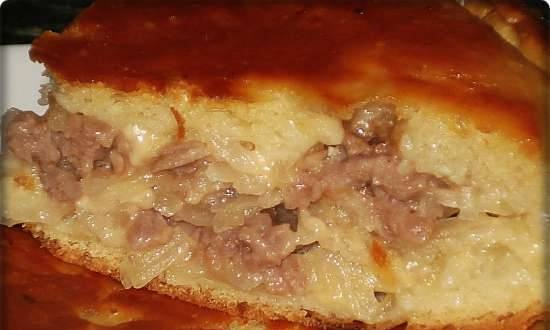 Pie with meat, cheese and potatoes (multicooker Redmond RMS-02)