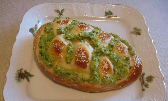 """""""Braids"""" with cheese and herbs (electric oven)"""