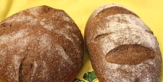 Wheat bread with whole grain flour on Liquid Yeast with fiber from Ivan-tea