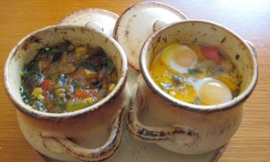 """Balkan dish """"Gyuvech with meat"""" (electric oven)"""