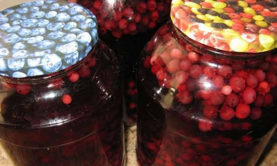 Irgi and white currant compote
