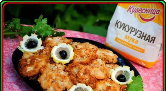 Cod tongues in corn-butter batter