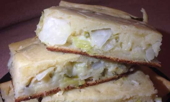 Jellied Pie with Raw Cabbage Filling