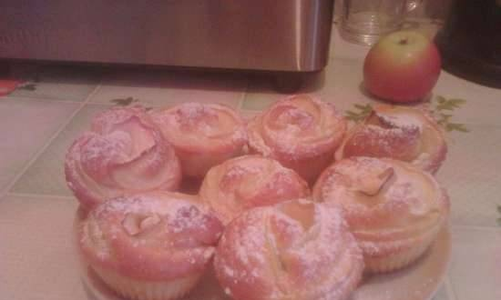 """Muffins with apples """"Roses"""""""