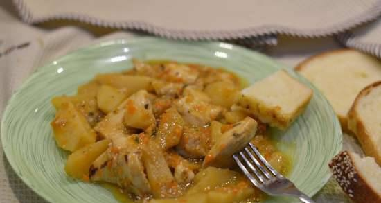 Chicken fillet with triple apple accompaniment