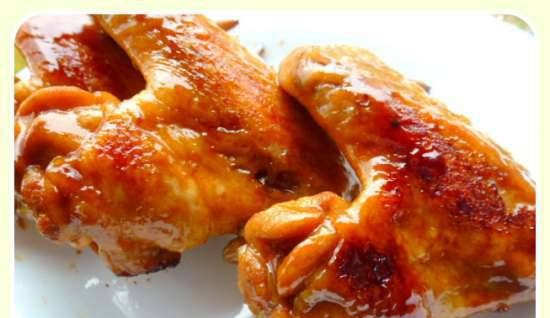 """Chicken wings caramelized in """"Baikal"""" soda or Coca-Cola"""