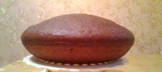 """New Year's cupcake """"Black Gingerbread"""" in the Philips multicooker 3060"""