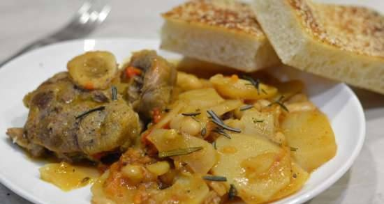 Osso buco with beans and potatoes