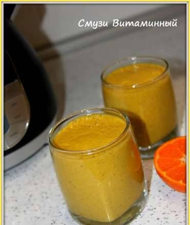 Vitamin smoothie with sea buckthorn and Chia seeds (Vitek VT-2620 soup blender)