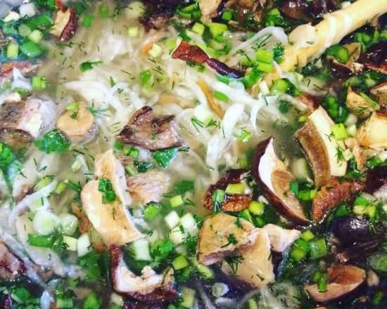 Sauerkraut cabbage soup with duck and dried mushrooms at Moulinex CookForMe