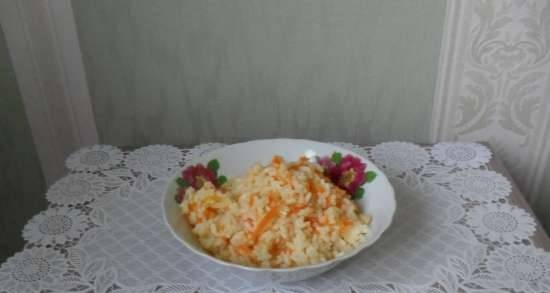 Rice with vegetables for garnish