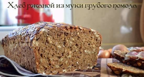Rye bread made from wholemeal flour