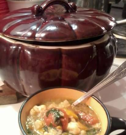 Winter mixed soup with a secret