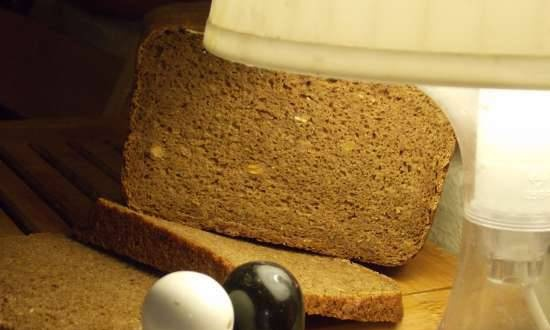 Rye-wheat bread with cocoa and seed mix