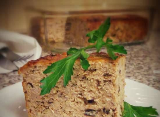 """Cutlet casserole with prunes """"Waiting for the holiday"""""""