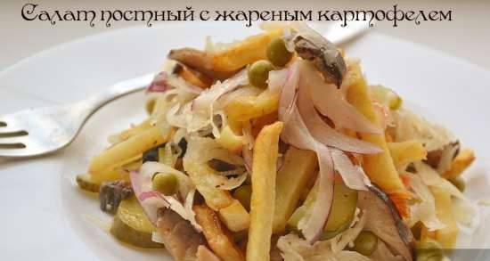 Lean salad with fried potatoes