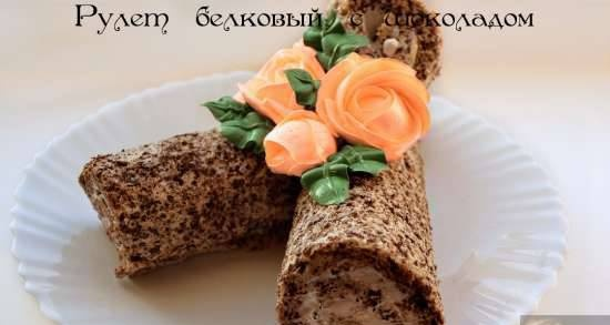 Protein roll with chocolate