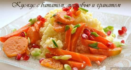 Couscous with sweet potatoes, carrots and pomegranate (lean)