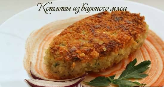 Boiled meat cutlets