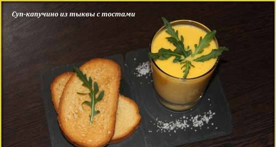 Pumpkin cappuccino soup with toasts from Rustam Tangirov