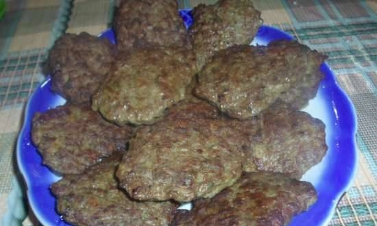 Liver cutlets with potatoes