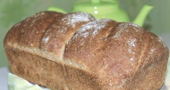 Wheat grain bread on sprouted rye