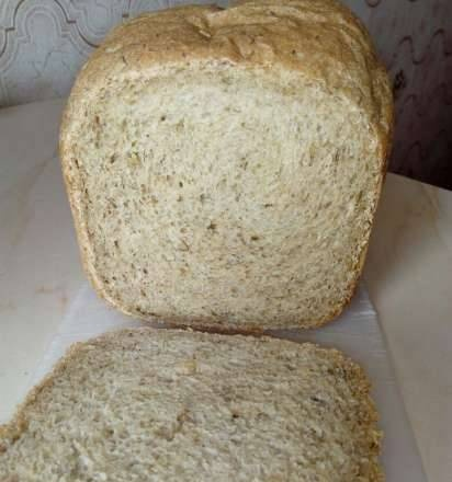 Panasonic SD-2511. Diet bread with whole grain flour, dill and parsley