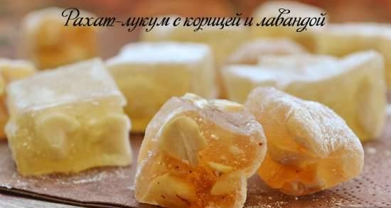 Turkish delight with cinnamon and lavender