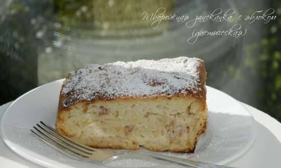 Cottage cheese casserole with apple (dietary)