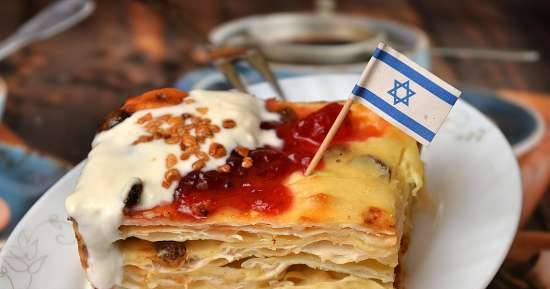 Cottage cheese casserole with matzo