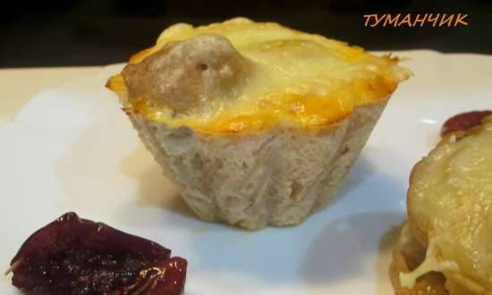 """""""Swallow's Nest"""" muffins or uncommon pasta, cutlet and cheese"""
